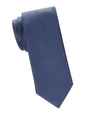 Grid Jacquard Silk Tie