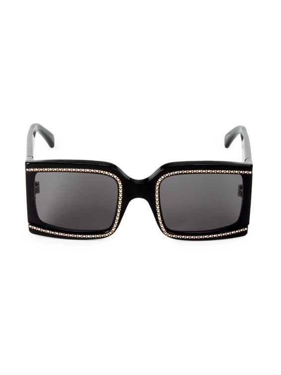 CELINE 60MM Crystal Square Sunglasses