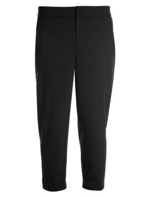 Cropped Virgin-Wool Blend Trousers