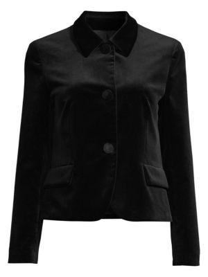 PIAZZA SEMPIONE | Point Collar Velvet Utility Jacket | Goxip