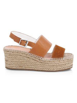 Edie Platform Leather Espadrille Sandals