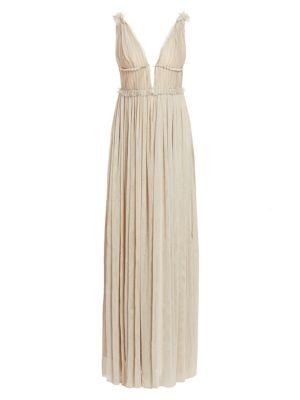 Savannah Victoria Metallic Tulle Gown
