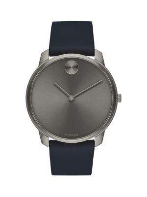 BOLD Stainless Steel & Leather-Strap Watch