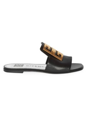 4G Flat Leather Sandals