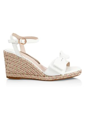 SOPHIA WEBSTER | Bonnie Leather Bow Espadrille Wedge Sandals | Goxip