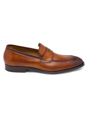 Luigi Leather Penny Loafers