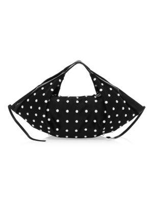 Mini Luna Faux Pearl Slouchy Hobo Bag