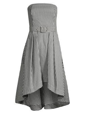 Tina Belted Gingham Midi Dress