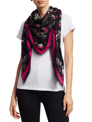 Nocturnal Love Fringed Scarf