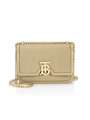 BURBERRY | Small TB Monogram Quilted Leather Shoulder Bag | Goxip