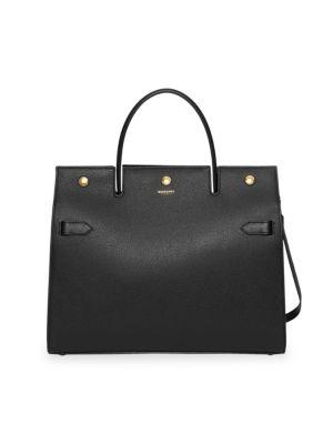 Medium Title Leather Satchel