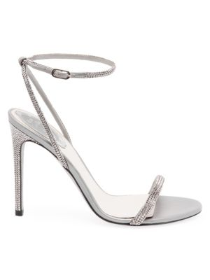 Ellabrita Crystal-Embellished Satin Sandals