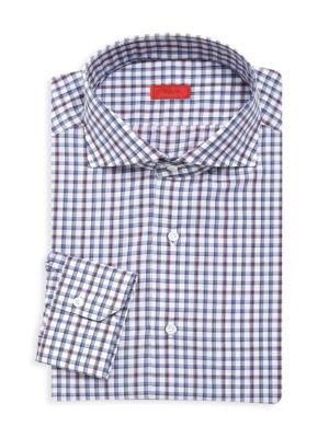 Slim Fit Check Dress Shirt