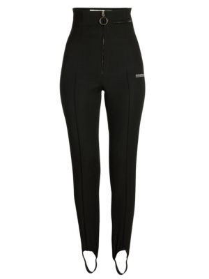 High-Waist Fitted Stirrup Pants