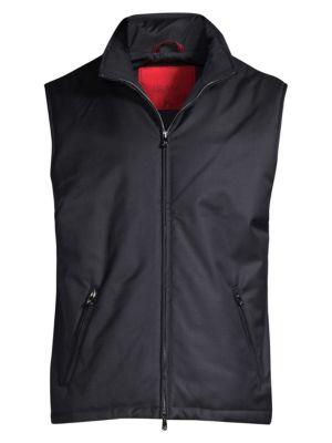 Tech Wool Zip-Up Down Vest
