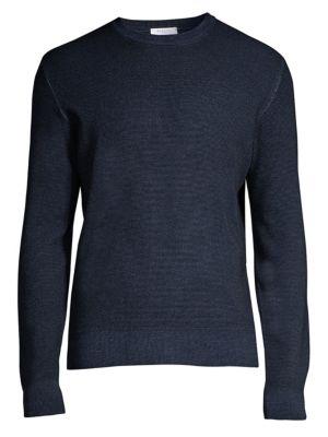Regular-Fit Wool Seed Stitch Knit Sweater