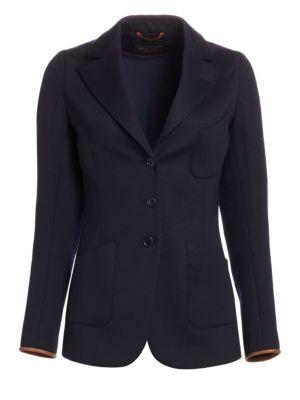 Karissa Wool-Blend Blazer Jacket