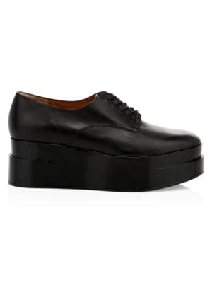 Lyric Platform Leather Oxfords