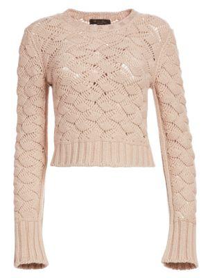 Aveyron Cashmere Long Sleeve Cropped Sweater