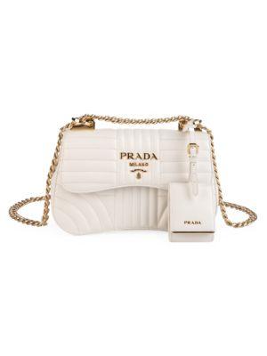PRADA | Diagramme Leather Shoulder Bag | Goxip