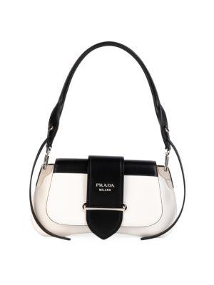 PRADA   Sidonie Leather Shoulder Bag   Goxip