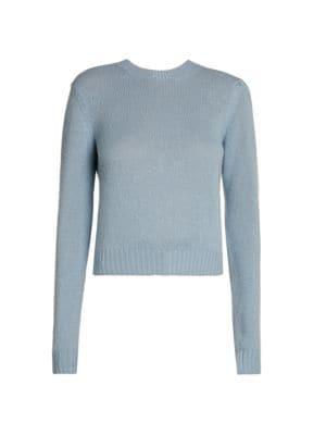 BOTTEGA VENETA | Cashmere-Blend Cropped Sweater | Goxip