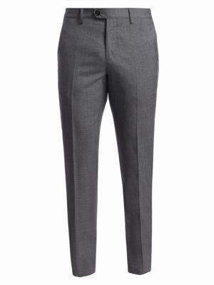 Lightweight Wool Flat Front Trousers