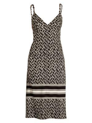 Print Satin Slip Dress