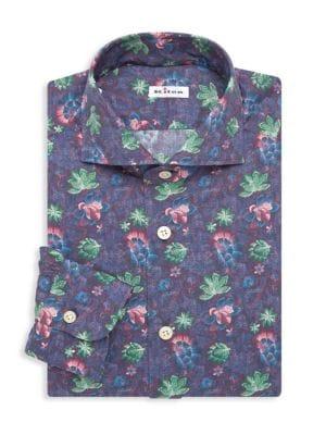 Contemporary-Fit Avatar Print Dress Shirt