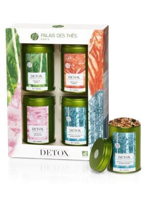 Detox 4-Piece Miniature Tea Tin Set