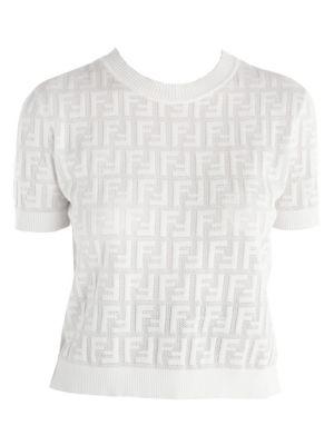 FF Jacquard Logo Short Sleeve Knit