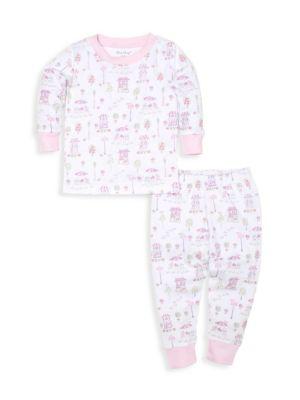 Baby's & Little Girl's Parisian Promenade 2-Piece Pajama Set