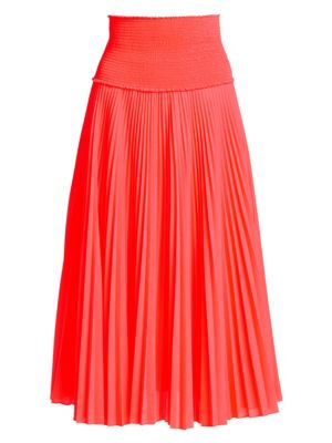 Hedrin Pleated Midi Skirt