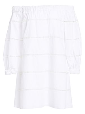 Hartman Cotton Poplin Off-The-Shoulder Dress