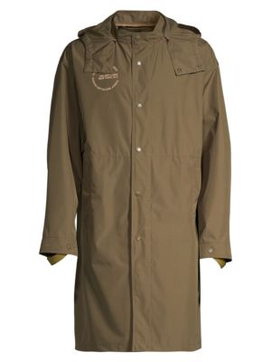 HELMUT LANG | Hooded Recycled Nylon Rain jacket | Goxip
