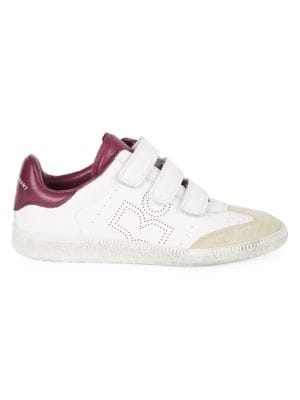 Beth Grip-Tape Leather Sneakers