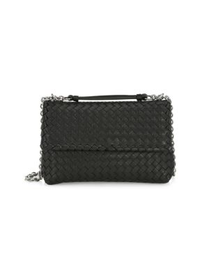BOTTEGA VENETA | Basket Woven Leather Shoulder Bag | Goxip