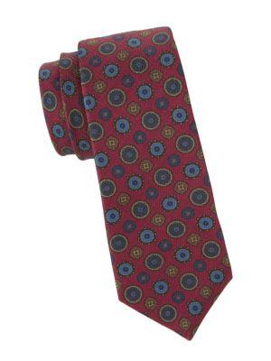 Mixed Mandala Silk Tie