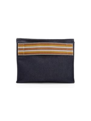 The Suitcase Stripe Cotton Pouch