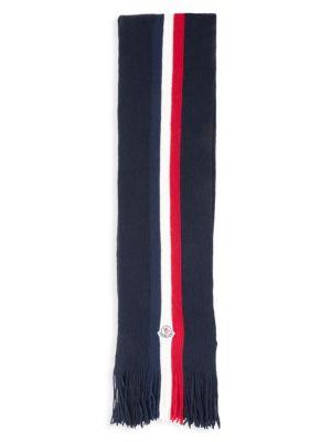 Virgin Wool Striped Scarf