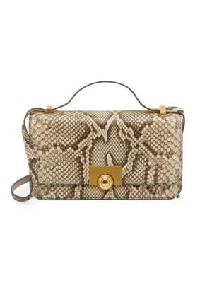 BOTTEGA VENETA | Snake Skin Leather Shoulder Bag | Goxip