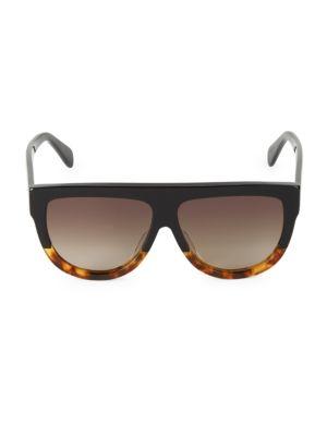60MM Flat Top Pilot Sunglasses
