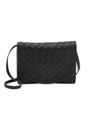 BOTTEGA VENETA   Intrecciato Leather Crossbody Bag   Goxip