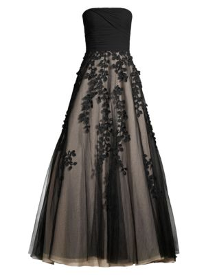Ruched Strapless Ball Gown