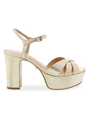 Keefa Leather Platform Sandals