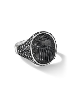 The Petrvs® Collection Sterling Silver, Black Diamond & Black Onyx Cocktail Ring
