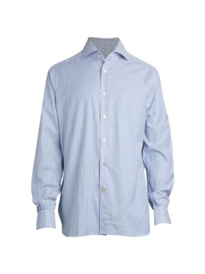 Contemporary-Fit Striped Sport Shirt