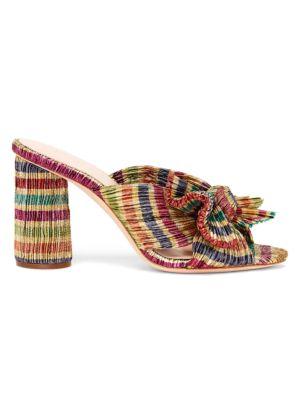 LOEFFLER RANDALL | Penny Candy Stripe Mules | Goxip