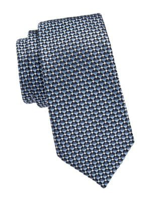 Layered Stripe Silk Tie