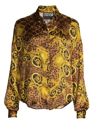 Lady Baroque & Leopard Print Shirt